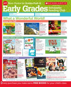 It's the October 2013 Scholastic Reading Club Flyer for the Early Grades (PreK-K)!