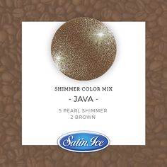 How to mix a sparkling Java color using the new Satin Ice Pearl Shimmer fondant! Method: Mix 5 parts Pearl Shimmer with 2 parts classic Satin Ice Brown fondant.✨ Knead until fully combined. Satin Ice Fondant, Fondant Decorations, Vanilla Flavoring, Lipstick Colors, Polymer Clay Jewelry, Java, Color Mixing, Sparkle, Pearl