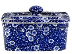 Butter Dish. Buy Blue and White China from the Secure Burleigh Online Shop