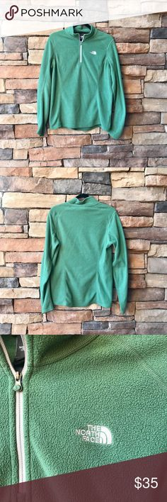 The North Face half zip pullover The North Face half zip fleece pullover. Size Large in women's. The North Face Sweaters