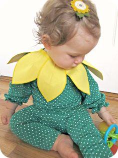 homemade by jill: comfy dress up: baby sunflower costume
