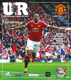 United Review cover. manutd v Aston Villa, 16 April 2016. https://manunitedsport.blogspot.com