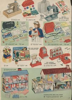 Toys - 1957 Christmas Catalog Wishbook. I'll bet that was one of the pages that caught my eye.