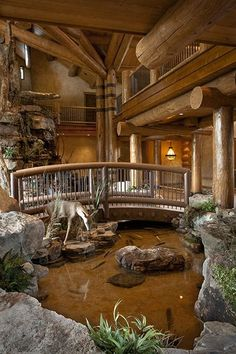 Awesome 22 Elegant Rustic Home Design Ideas Whatever your position, if you want the thought of getting back again to nature, you will want to think about setting up a rustic home? You don't have to relocate [Continue Read] Rustic Home Design, Dream Home Design, My Dream Home, Rustic Homes, Cabin Design, Modern Design, Log Cabin Homes, Log Cabins, Mountain Cabins