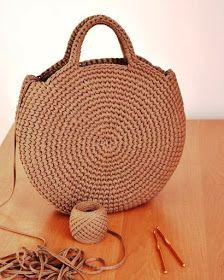 Crochet Stitches, Knit Crochet, Crochet Patterns, Crochet Round, Crochet Purses, Knit Fashion, Creativity, Knitting, Handmade