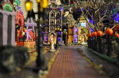 Halloween Village Display / Lemax Spooky Town Display / - 2009 Halloween village - posted from Shutterfly - oatperu2011