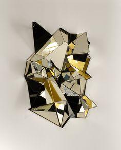Miroir Mercure designer Mathias Kiss finition Bronze galerie Armel Soyer Design contemporain arts décoratifs du XXIème siècle AIR