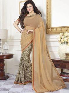 Vinay Fashion 16807 - Brown Color Georgette Saree Designer