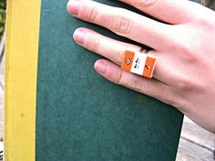 Orange Penguin Book Ring Made to Order Book by Coryographies