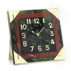 Art Deco desk clock, by Cartier circa 1935