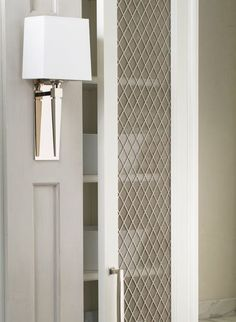 Trend to Try Wire Mesh Cabinets | Greystone Statement Interiors | Interior Design Blog & Decorative Metal Mesh Panels | Flat Wire Mesh Panels for ...