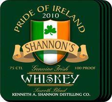 Irish Whiskey Coaster Set