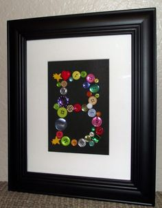 Personalized Framed & Matted Button Monogram Art by Pattypins, $25.00
