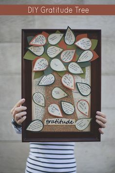 DIY Gratitude Tree Craft for #Thanksgiving Originally thought this would take forever, but found the idea might be kind of useful for a team building exercise.