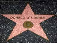 Actor Donald O'Connor Star on walk of fame Thelma Todd, Donald O'connor, Turner Classic Movies, Acceptance Speech, Black Actors, Anthony Hopkins, Martin Scorsese, Janis Joplin