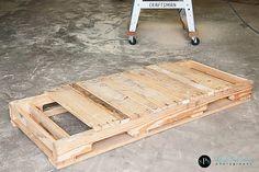 DIY wooden pallet turns swing 2
