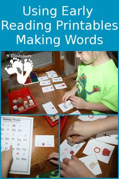 Using Early Reader Printables: Making Words - 3Dinosaurs.com