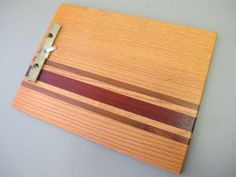 Wooden Clipboard with wood inlay metal clip