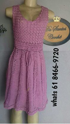 Knit Sweaters, Crochet Dresses, Clothes For Women, Patterns, Knitting, Fashion, Crochet Doll Clothes, Pink, Craft