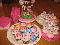 Lalaloopsy birthday cupcakes