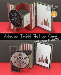 Sandy Allnock: Adapted Trifold Shutter Card…revisited! #video #PDF #tutorial
