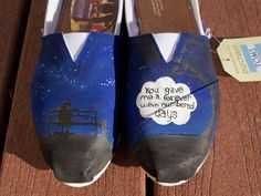 The Fault In Our Stars Custom Painted TOMS by LindseyRosesDesign, $120.00