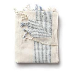 turkish hammam Towel Light Blue Stripe / i+w home