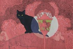 """Cat in the Garden"" by yanadhyana (DeviantArt)"