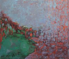 "Saatchi Online Artist Nira Amit; Painting, ""Lake in haze"" #art"