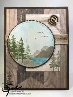Stampin' Up! Waterfront on Wood for the Inkin' Krew Team Blog Hop | Stamp With Sue Prather