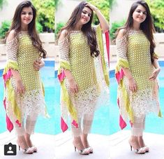 Indo we stern cold shoulder kurti Pakistani Dress Design, Pakistani Outfits, Indian Outfits, Western Outfits, Stylish Dresses, Simple Dresses, Fashion Dresses, Couture Dresses, Beautiful Dresses