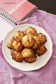 Kokosanki bez cukru (z ksylitolem) -dietetyczne, bezglutenowe | Zapachy Kuchni