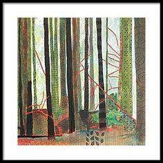 Embroidered Forest Part 3 Framed Print by Sandrine Pelissier