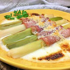 Con esta receta de puerros gratinados se pueden preparar un buen número de verduras sencillas: espárragos blancos, coliflor, brócoli, calabacines... Sigue la misma elaboración y ajusta los tiempos de cocción.