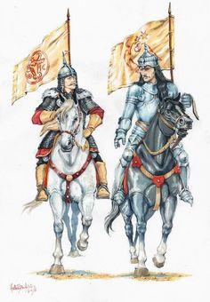King Stefan lll of Moldavia and Vlad lll of Wallachia, century - Imagen Medieval Knight, Medieval Fantasy, High Fantasy, Fantasy Art, History Of Romania, Renaissance, Skins Characters, Vlad The Impaler, Russian Tattoo