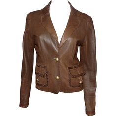 depot vente de luxe en ligne - Luxury eshop online veste en cuir marron   TendanceShopping.com