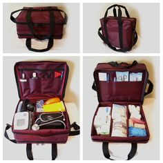 Using the Nursing Bag assists nurses to deliver safe, timely, and efficient care for our clients. As nurses, we carry around many items. Top Nursing Schools, Nursing School Notes, Nursing Career, Nursing Tips, Nursing Students, Nursing Student Gifts, Home Health Nurse, Hospice Nurse, Nursing Accessories