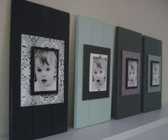 Cute picture frames...great DIY project