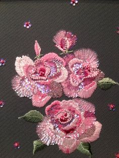 Embroidered rose by Couture Beading and Embellishment