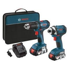 Bosch 18-Volt Lithium-Ion Cordless Drill/Driver and Impact Driver Combo Kit (CLPK26-181)