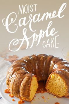 No matter if you say car-mel or car-a-mel, this Moist Caramel Apple Cake takes the cake.