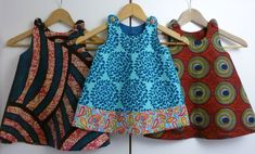 little girls in african print dresses for sale #AfricanKidsFashion