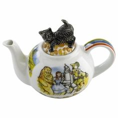 This Wizard of Oz Teapot by Paul Cardew will bring a smile to your tea. Little Toto crouches playfully on the lid while the cast of characters surround the teapot. The