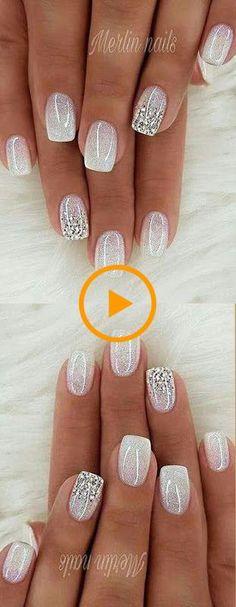 wedding nails for bride gel wedding nails for bride ; wedding nails for bride acrylic ; wedding nails for bride classy ; wedding nails for bride bridal ; wedding nails for bride gel Cute Acrylic Nails, Acrylic Nail Designs, Cute Nails, Pretty Nails, Nail Art Designs, My Nails, Glitter Nail Designs, Fancy Nails Designs, Classy Nail Designs