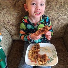 On Fridays Caelan stays home with me while I (try to) work remotely for a company in New Jersey. Sometimes this ends up in disaster and sometimes it can be stressful but today I'm thankful that I got to make homemade waffles for this little man because life is too damn short.