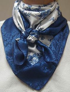 Blue Desert Rose w/Denim Jacquard
