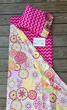 Kinder Mat cover- Pink Chevron or Stripe - with attached ...…