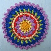 Crochet Mandala Wheel made by  Christine, Germany, for  yarndale.co.uk