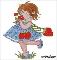Девочка с клубникой