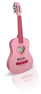Pink Heart Acoustic Guitar at PinkSuperStore.com